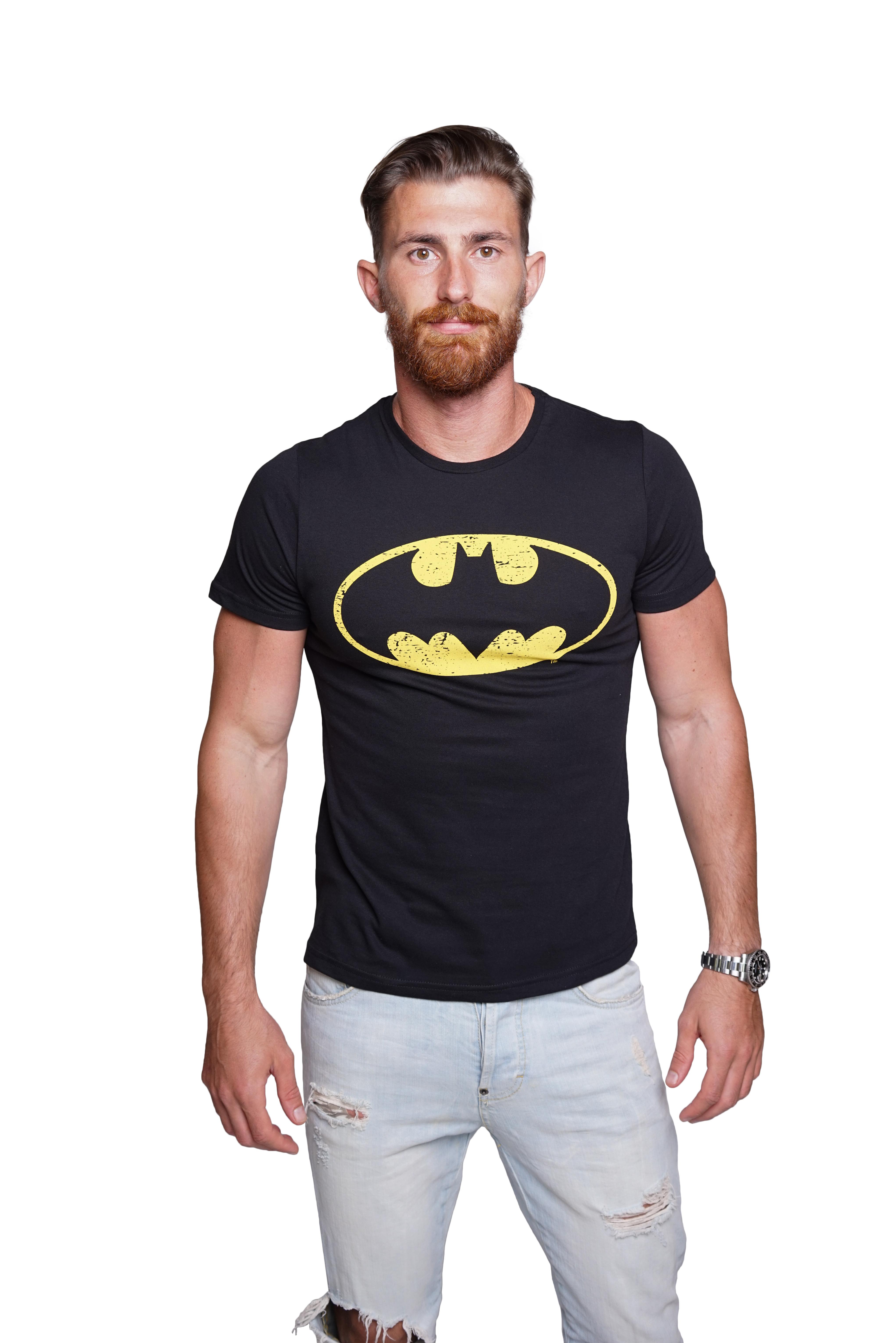 Course-Herren-Batman-Superman-T-Shirt-Comics-Hero-Held-Superheld-Rundhals-Sommer Indexbild 5