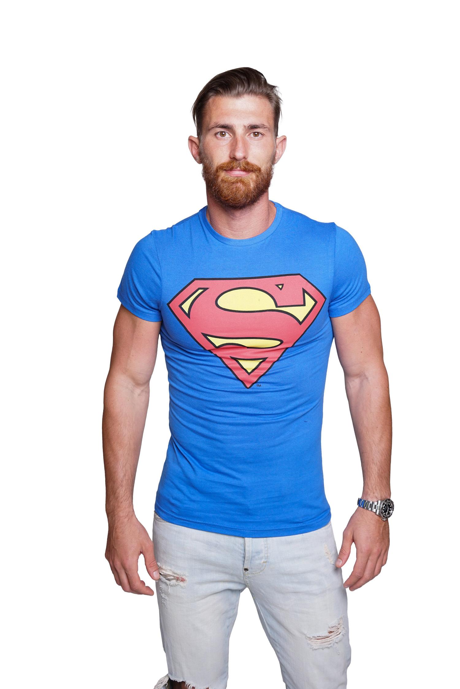 Course-Herren-Batman-Superman-T-Shirt-Comics-Hero-Held-Superheld-Rundhals-Sommer Indexbild 3