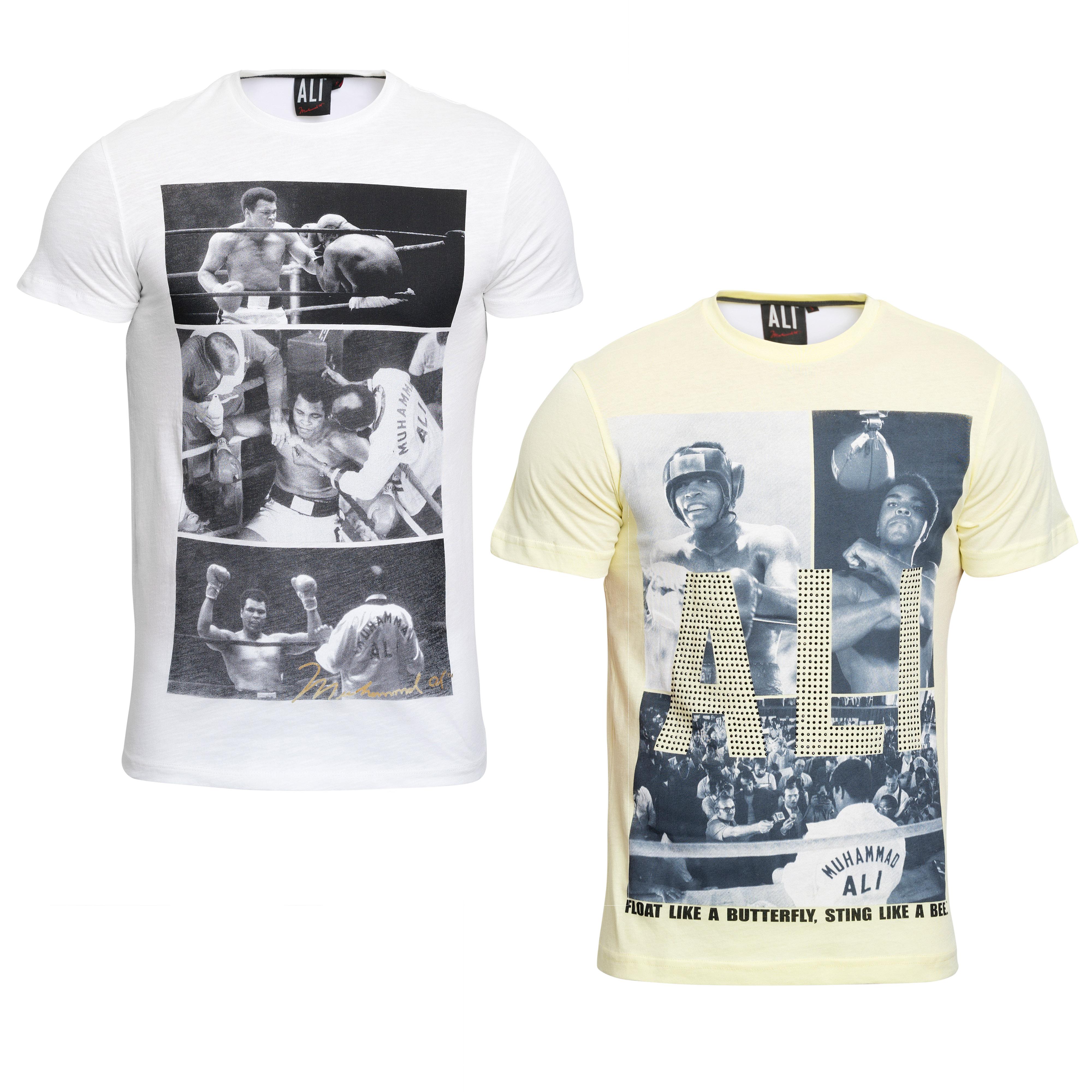 Course Herren T-Shirt Muhammad Ali Print Kurze Ärmel Rundhals Sommermode Boxen